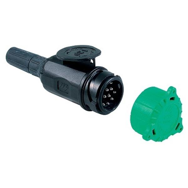 Kunststoff Stecker 12 Volt 13 polig ISO 11446