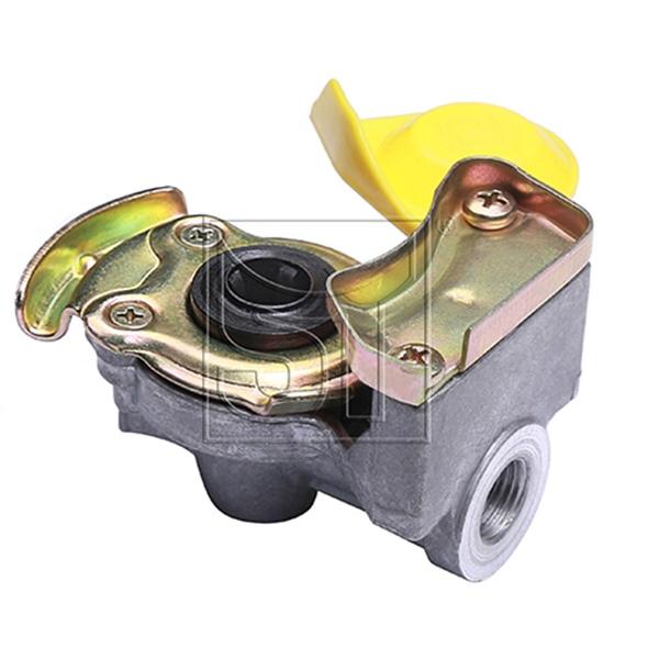 Kupplungskopf gelb 16 x 1,5 automatik für Motorwagen / Zugmaschinen