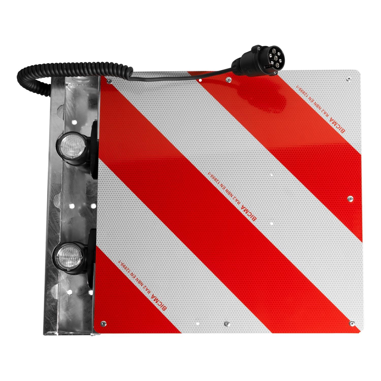 Warntafel für Überbreite hinten links 423 x 423mm mit LED-Umrissleuchten