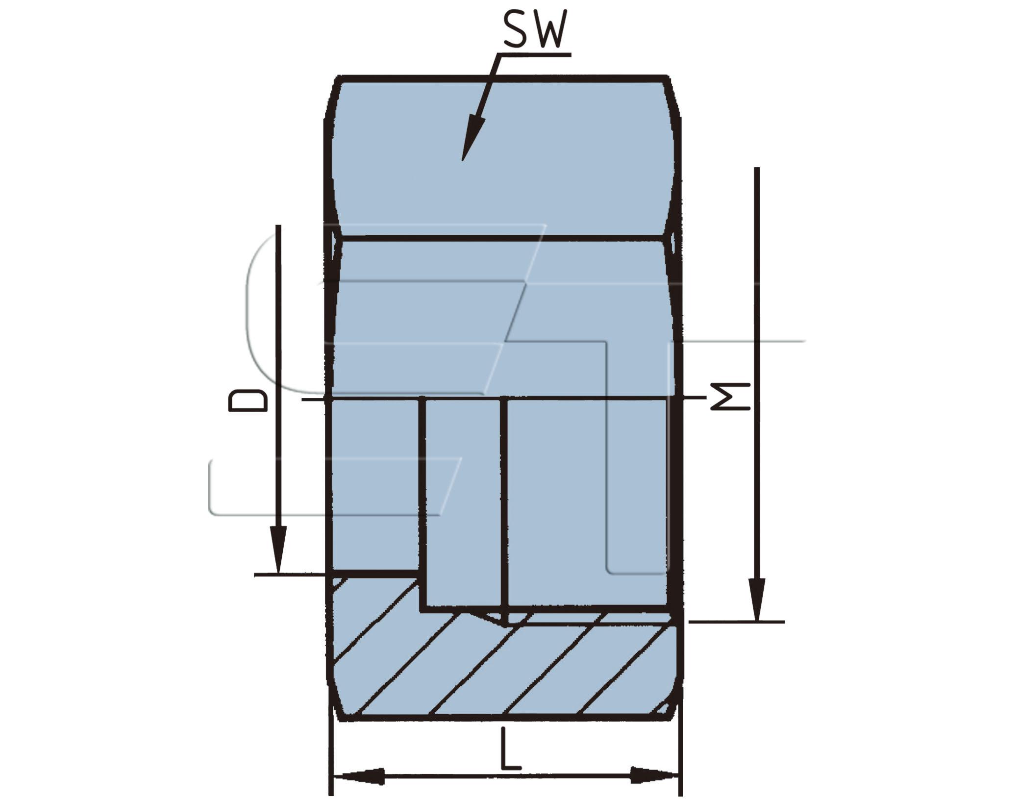 Überwurfmutter für Schlauchstutzen M 22 x 1,5