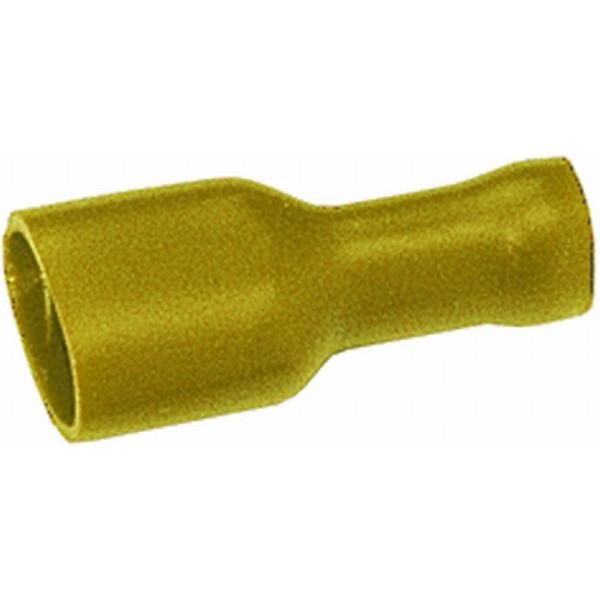 Flachsteckhülse vollisoliert gelb VPE 50 Stück
