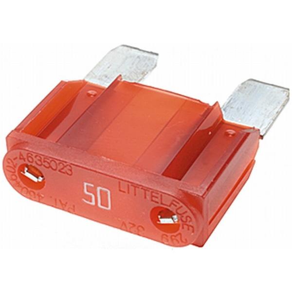 MAXI Flachstecksicherung 50 Ampere rot
