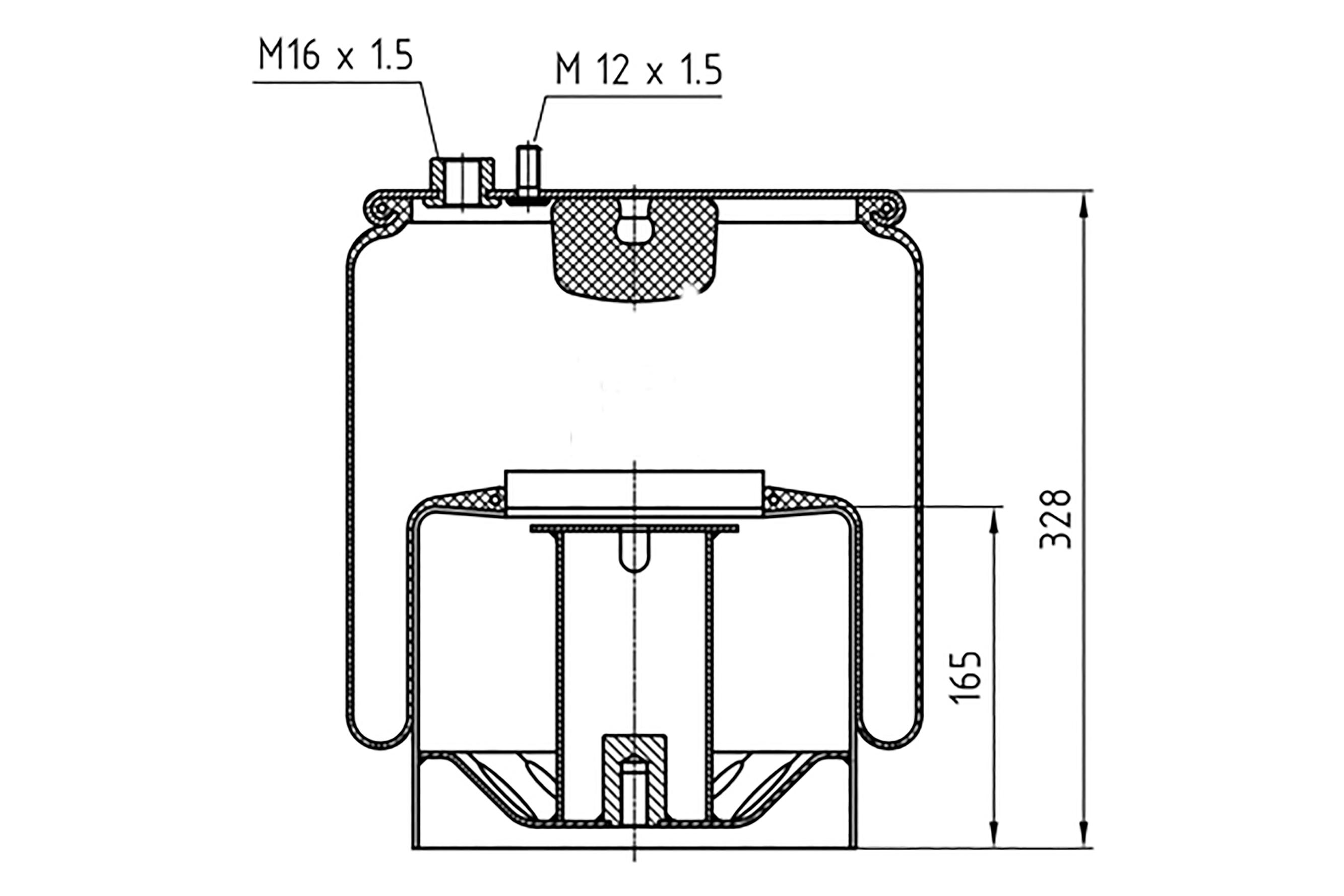 Luftfederbalg passend für MAN TGA/TGX/TGS