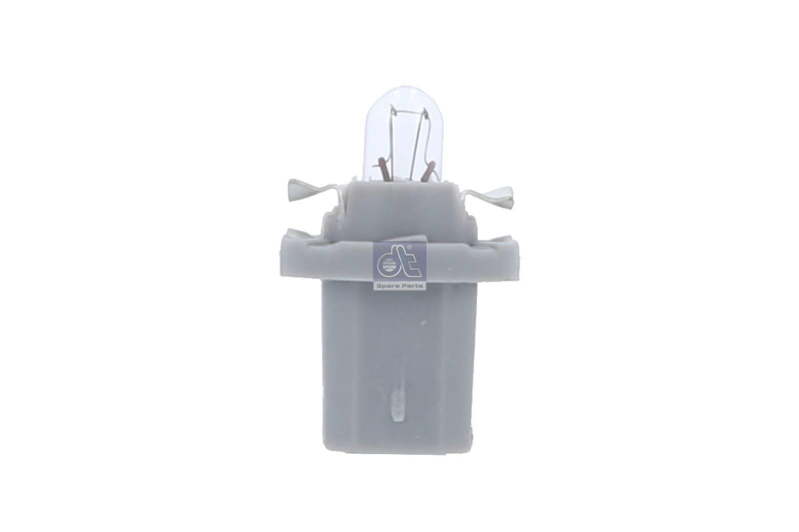 Kunststoffsockellampe grauer Sockel 24V / 1,2W