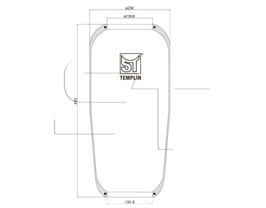 Luftfederbalg passend für MAN F2000/F90/M2000