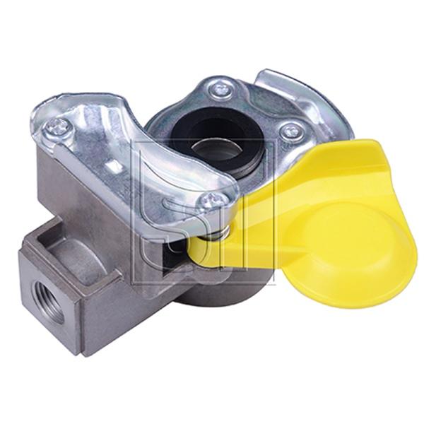 Kupplungskopf gelb M16 x 1,5 mit Filter für Anhänger / Sattelauflieger