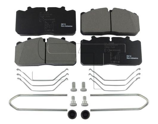 Bremsbelagsatz passend für MAN L 2000, M 2000 L, M 2000 M / DAF / IVECO / RENAULT TRUCKS