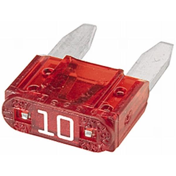 MINI-Flachstecksicherung 10 Ampere rot