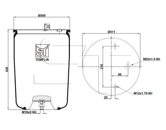 Luftfederbalg passend für BPW 36K / 4881MB ohne Federglocke