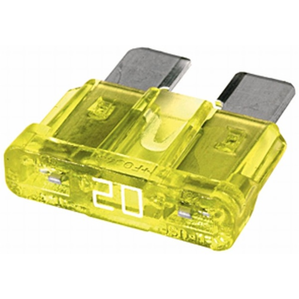 MAXI Flachstecksicherung 20 Ampere gelb