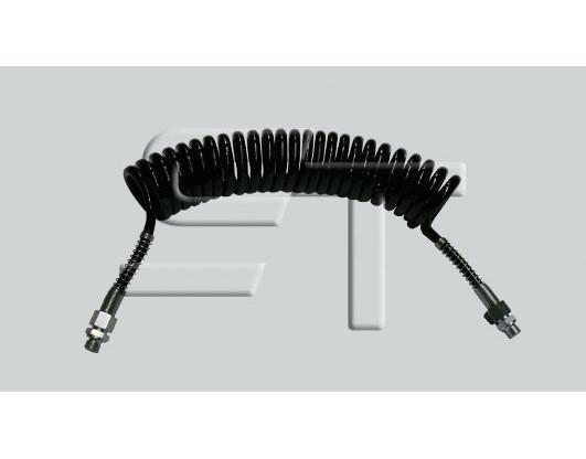 Luftwendel schwarz Knickschutz Stahlfeder