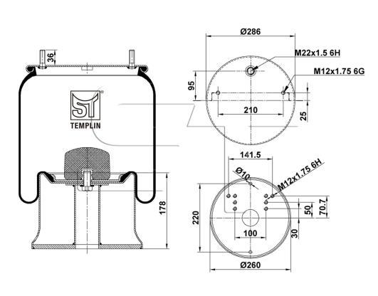 Luftfederbalg passend für Schmitz-Cargobull FAG041-0087