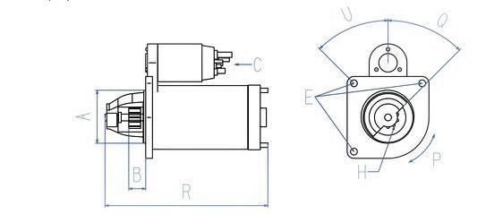 Anlasser passend für DAF 85CF / 95 XF