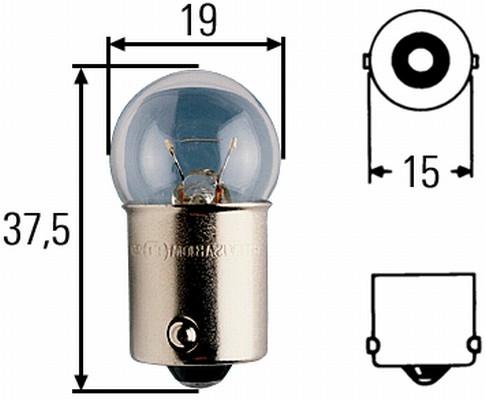 Glühlampe 24 Volt / 10 Watt BA 15s