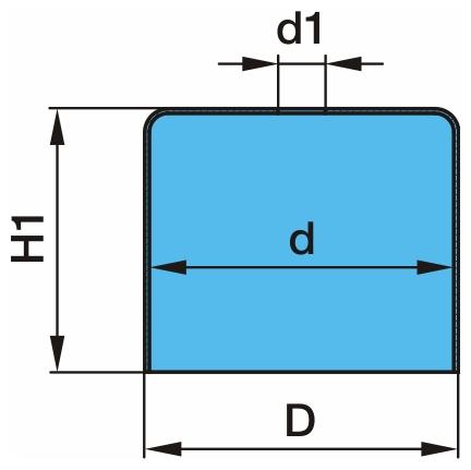 Abrollkolben passend für Luftfederbalg BPW 36-1
