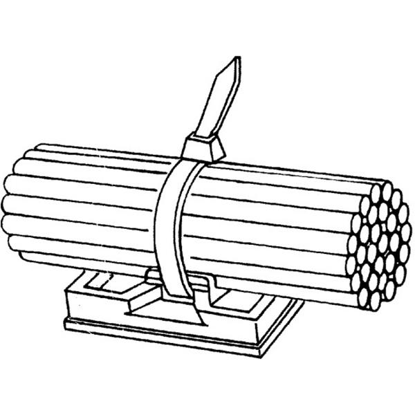 Klebeplatte für Kabelbinder VPE 100 Stück