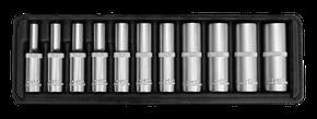 "Steckschlüsseleinsätze 1/4"" 4-13 mm tief 11-teilig"