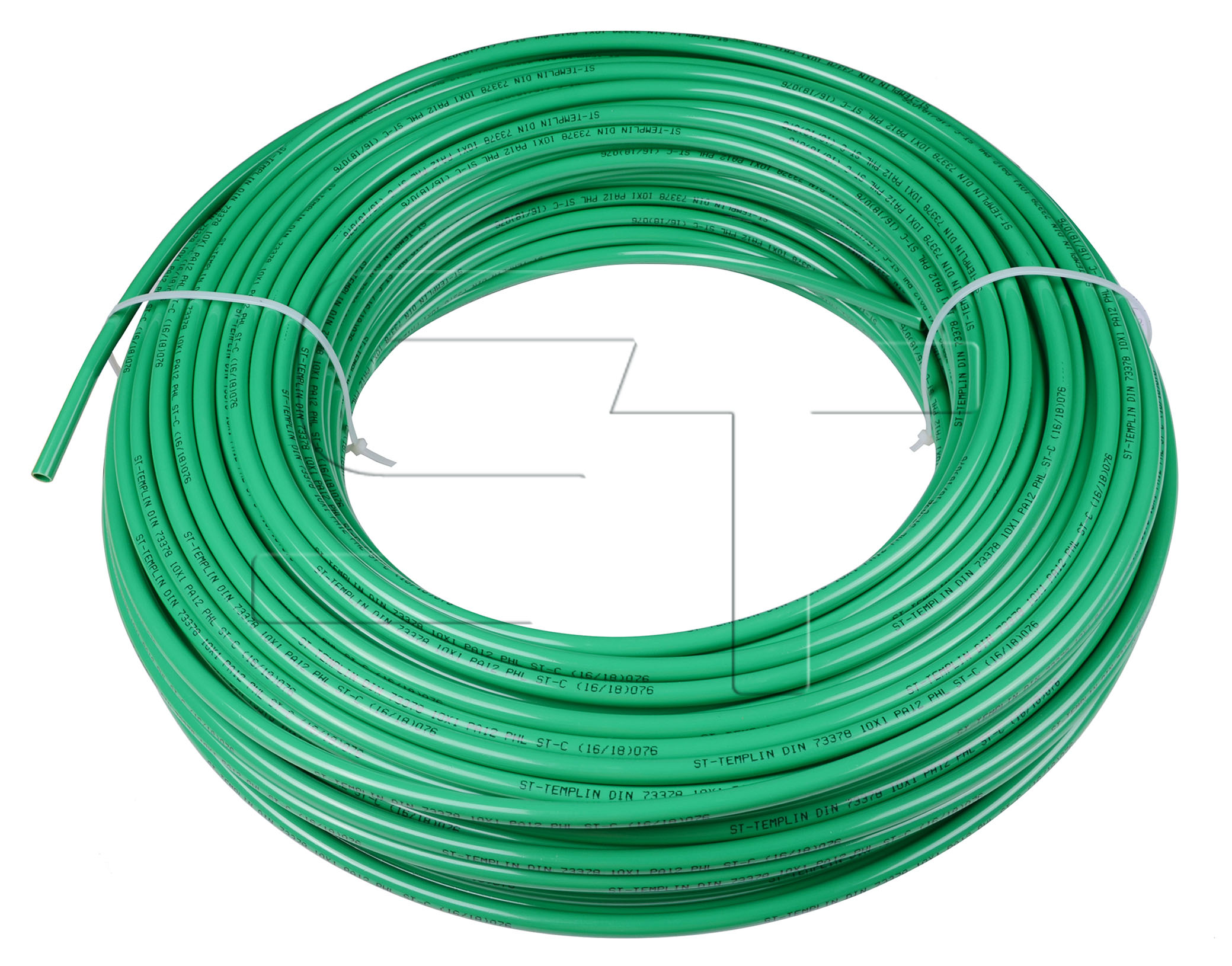 Kunststoffrohr Grün