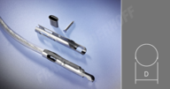 Ovalrohrniet 8mm Messing VPE 100 Stück