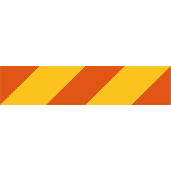 Heckmarkierung links für Zugmaschinen nach ECE-Euronorm 70 Klebefolie