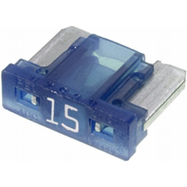 Low-Profile Mini-Flachstecksicherung 15 Ampere blau