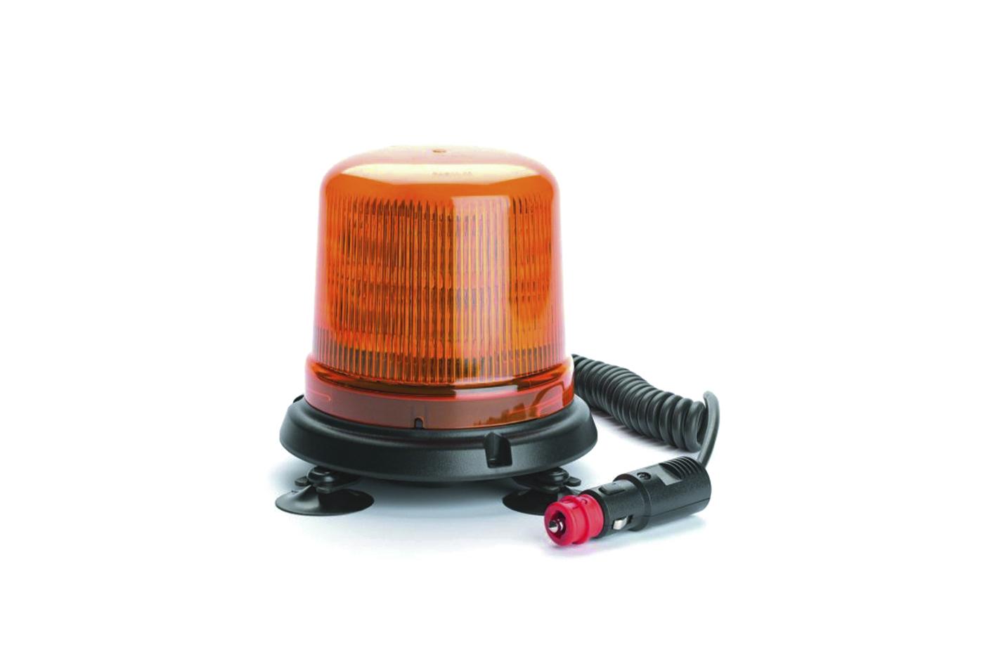LED Rundumkennleuchte mit Magnetbefestigung