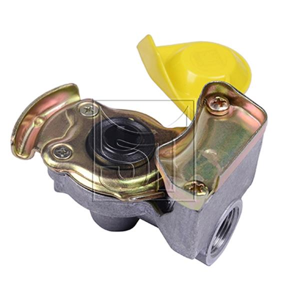 Kupplungskopf gelb M22 x 1,5 automatik für Motorwagen / Zugmaschinen