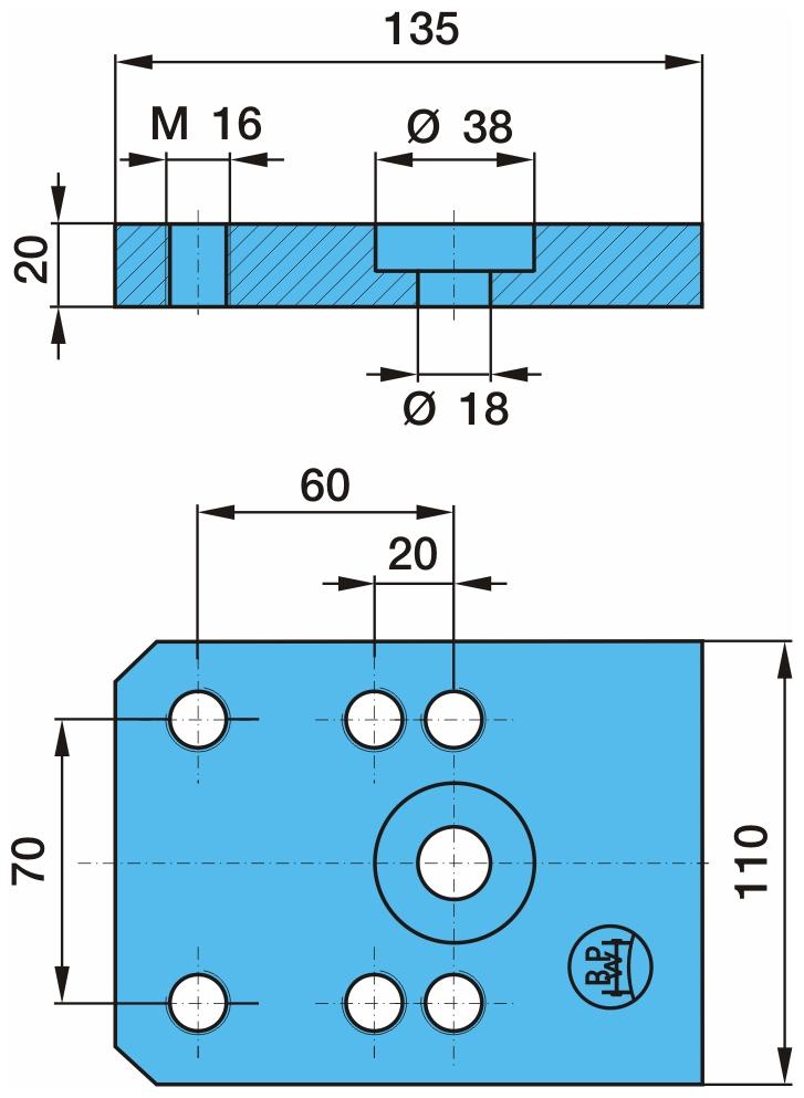 Bodenplatte passend für BPW 30