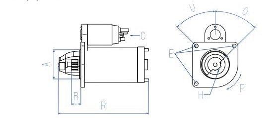 Anlasser 24 V / 5,5 KW passend für DAF CF85 / XF105 / XF95
