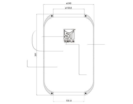 Luftfederbalg passend für Conti 661N