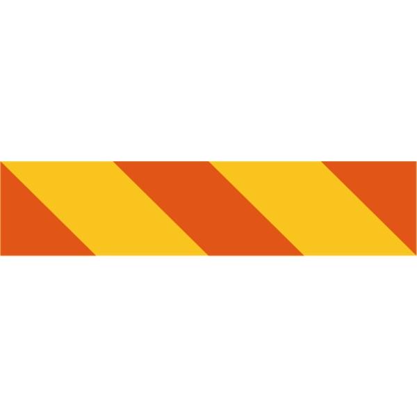 Heckmarkierung rechts für Zugmaschinen nach ECE-Euronorm 70 Klebefolie