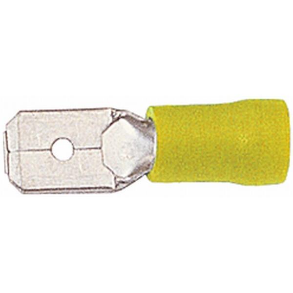 Flachstecker gelb VPE 50 Stück