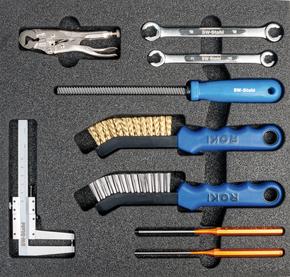 Werkzeugeinlage 9-teilig für Werkstattwagen