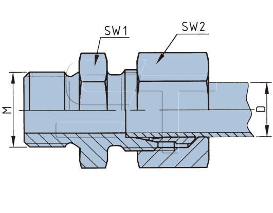 Gerade Einschraub-Verschraubung M10 x 1 auf 8 mm Rohr