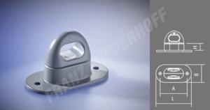 Drehverschluss für Planen-Ovalöse 42x22mm Kunststoff