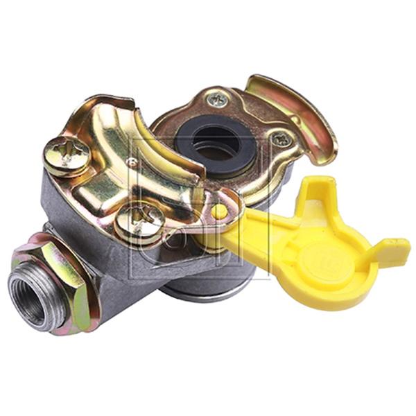 Kupplungskopf gelb M16 x 1,5 mit Filter für Sattelauflieger