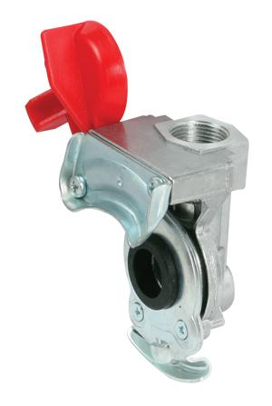 Kupplungskopf rot M16 x 1,5 für Anhänger / Sattelauflieger