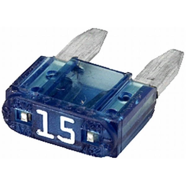 MINI-Flachstecksicherung 15 Ampere blau