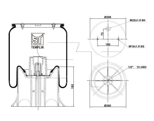 Luftfederbalg passend für Schmitz-Cargobull 1T15MPW 7