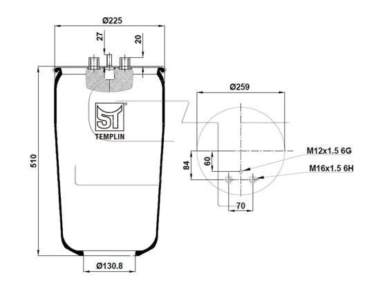 Luftfederbalg passend für MAN TGA/TGM/TGS/TGX