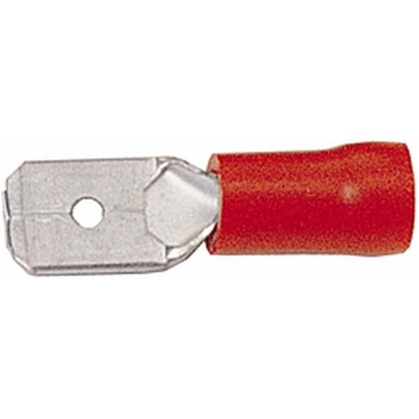 Flachstecker rot VPE 100 Stück