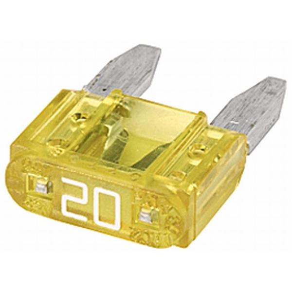 MINI-Flachstecksicherung 20 Ampere gelb
