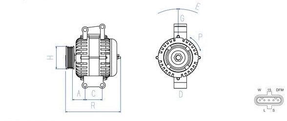 Lichtmaschine 28V / 110A passend für MAN TGA/ TGL/ TGM/ TGS/ TGX