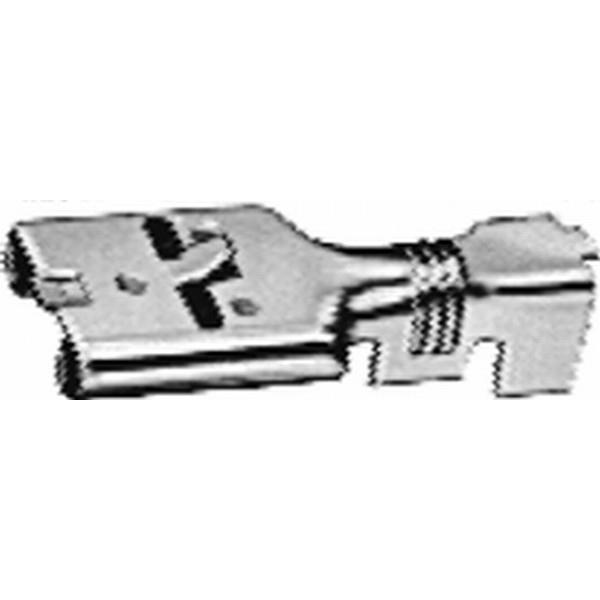 Flachsteckhülse unisoliert mit Arretierung  VPE 100 Stück