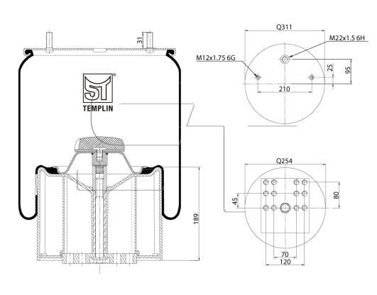 Luftfederbalg passend für BPW 36 / 881MB