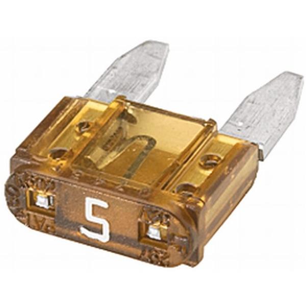 MINI-Flachstecksicherung 5 Ampere beige