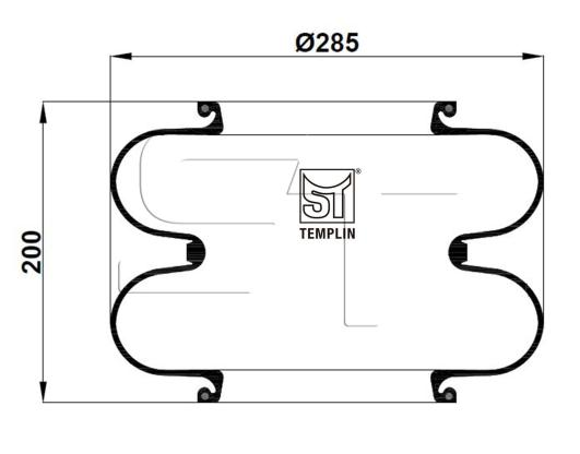 Luftfederbalg passend für 608N