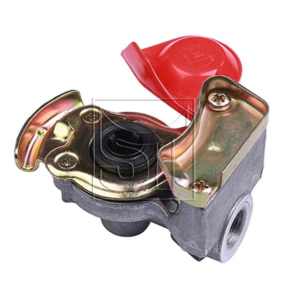 Kupplungskopf rot 16 x 1,5 automatik für Motorwagen / Zugmaschinen