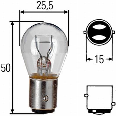 Glühlampe 24 Volt / 21 / 5 Watt BAY 15d