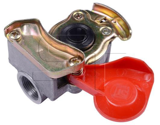 Kupplungskopf rot M22 x 1,5 automatik für Motorwagen / Zugmaschinen
